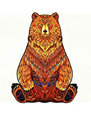 Wooden Puzzles for adults Children - 3D 100PCs Creative Animal Pattern Puzzles - Family Games - Perfect Toys Gifts for New Year