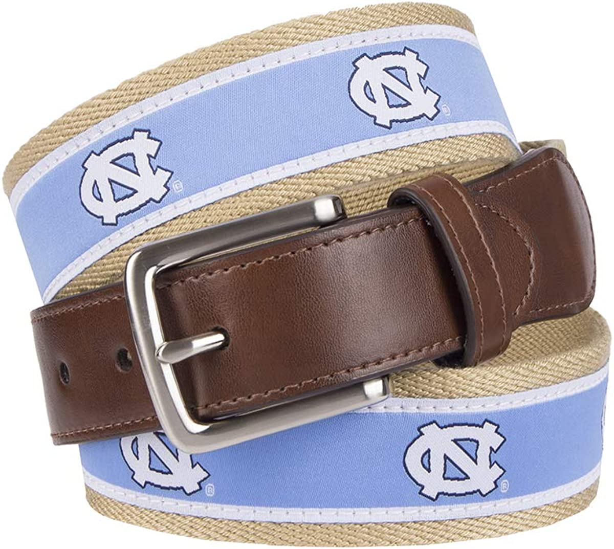 Collegiate Collection Mens NCAA College Ribbon Overlay Belt