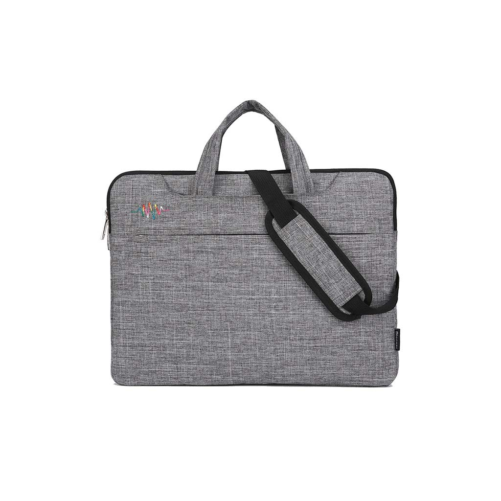 QSJY File Cabinets 15 Inch Handbag with Shoulder Slanting Gamebook Computer Package 38(W)×29(H)×3(T) cm (Color : Gray, Size : 38(W)×29(H)×3(T) cm) by QSJY File Cabinets