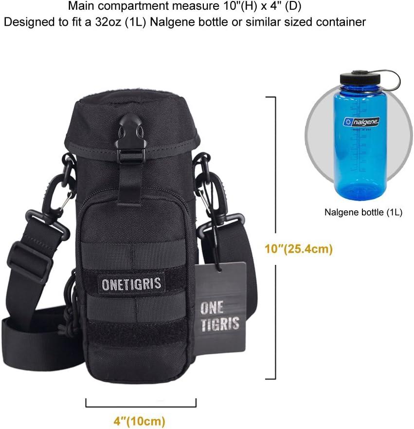 OneTigris Botella de Agua Commando Bolsa 10/x4