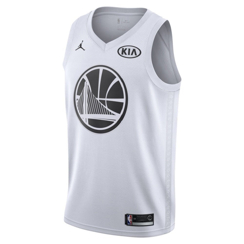 6d32f1c90d9 Amazon.com  NIKE Men s Jordan All-Star Game Swingman NBA Jersey Kevin  Durant (928874-102) White Black (Medium (44))  Clothing