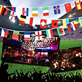 Anself 164ft/ 229ft International String Flag Hanging Flag Banner 200 Countries for Olympic Games Party Celebration