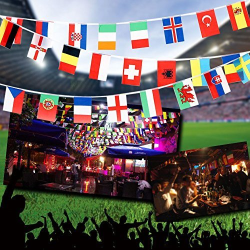 Anself 164ft/ 229ft International String Flag Hanging Flag Banner 200 Countries for Olympic Games Party Celebration by Anself (Image #4)