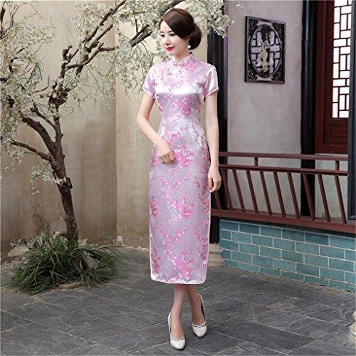 Shanghai Story Women's Qipao Long Chinese Wedding Evening Dress Cheongsam 6 Pink by Shanghai Story (Image #2)