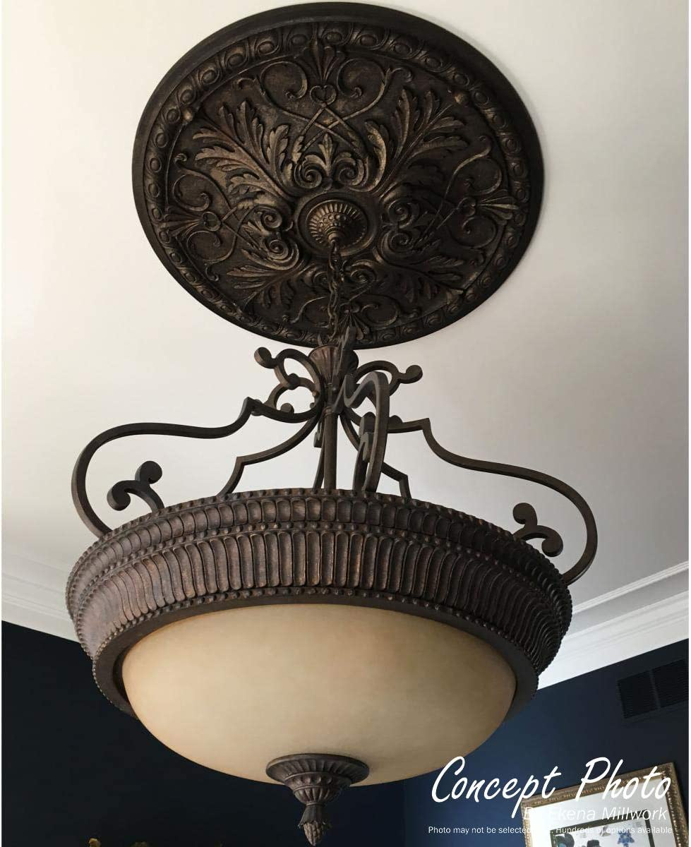 Fits Canopies up to 3 7//8 Ekena Millwork CM20HA2-03500 Randee Ceiling Medallion 20OD x 3 1//2ID x 1 3//8P Factory Primed