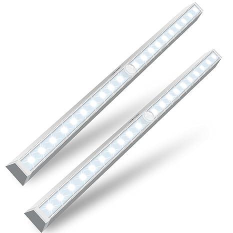 2 unidades 20LED Sensor de movimiento luz dos formas de instalar