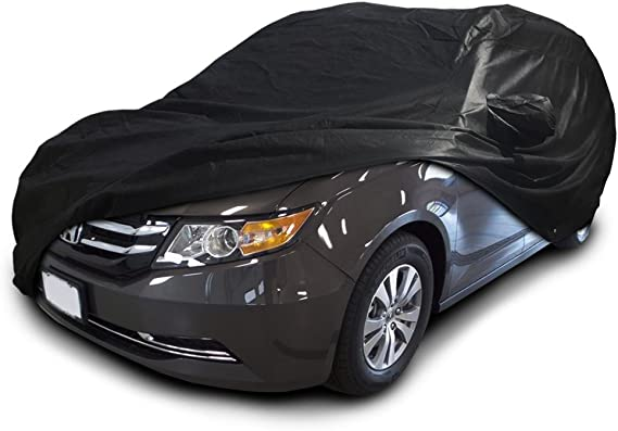 CarsCover Custom Fit 2005-2019 Honda Odyssey Mini Van Car Cover Xtrashield Minivan Black