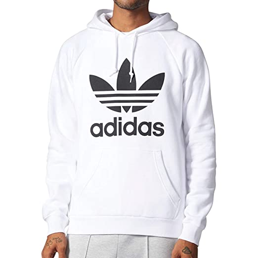 6d847ca99b21 Amazon.com  Adidas Originals Men s Trefoil Longsleeve Pullover Hoodie Vivid  Red White cv9550  Sports   Outdoors