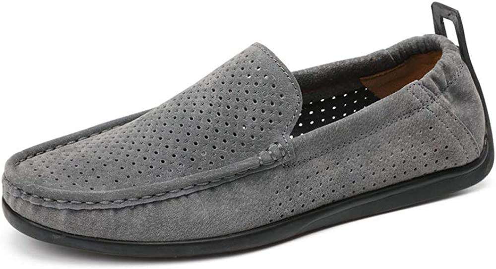 Mens Slip On Loafer Oxford Shoes Comfortable Classic Formal Business Shoes M US Men Grey-Lable 44//10 D