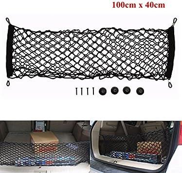 Black Car Rear Cargo Luggage Organizer Storage Elastic Mesh Net Bag 100 x 100cm