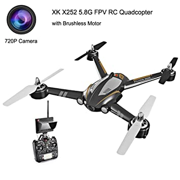 XK X252 5.8G FPV 7CH 6-Axis Gyro Drone RC Quadcopter RTF 1804 ...
