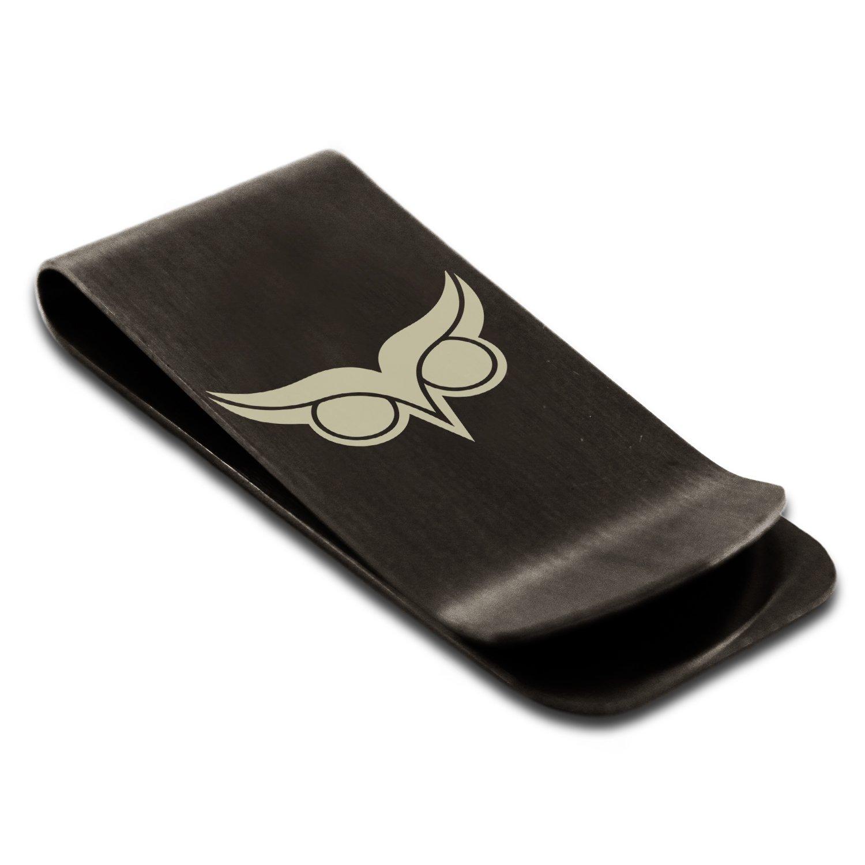 Stainless Steel Athena Greek Goddess of Wisdom Symbol Engraved Money Clip Credit Card Holder