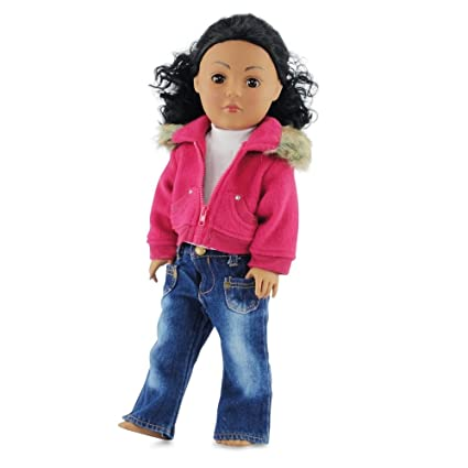 fe9a8b25398 Image Unavailable. Image not available for. Color  18 Inch Doll Clothes  Clothing ...