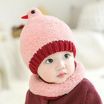 YINGER Sombreros y Bufandas para bebés Invierno Tejido de Punto Lindo  diseño de pájaro Mantener Caliente Adecuado para niños y niñas  Amazon.es   Deportes y ... 5ae148424ed