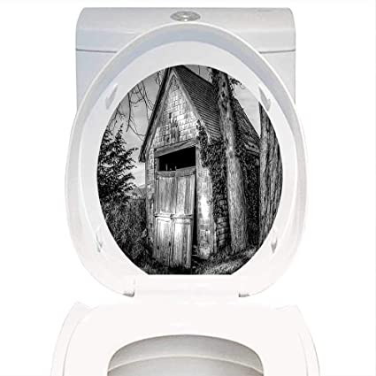 Groovy Amazon Com Toilet Seat Decal Rustic Home Decor Old Ruined Creativecarmelina Interior Chair Design Creativecarmelinacom