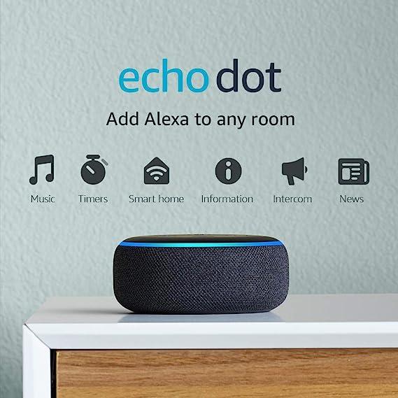 Amazon.com: Echo Dot (3ra Gen) - Parlante inteligente con Alexa - Carbón: Amazon Devices