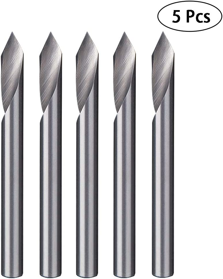 Generic Knifepoint 0.1mm 45 Degree 1//8 Inch 3.175 CNC Engraver Single Tip Flat Router CNC Engraving Bit Blade Pack Of 10