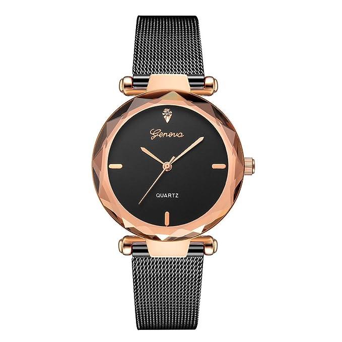 Gusspower Reloj de Pulsera de Cuarzo para Mujeres, Correa de Acero Inoxidable Color Acero Moda (B): Amazon.es: Relojes