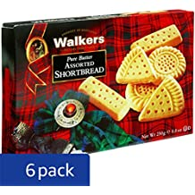 Walkers Shortbread Assorted, 8.8 oz. Boxes (Pack of 6), Traditional and Simple Pure Butter Shortbread Cookies from the Scottish Highlands, Made with Quality Ingredients, Free from Artificial Flavors