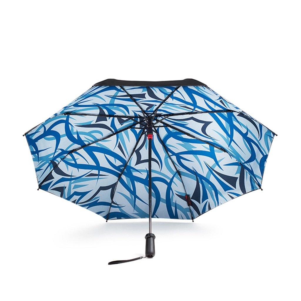 傘 インテリジェントサンスクリーンブラック傘二重折り畳み傘傘抗紫外線日傘アンブレラ HBJP (Color : Blue) B07SVPM6SF Blue