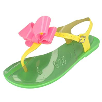74cc5dc0a223 Girls Jelly Sandals F0592 Neon Green