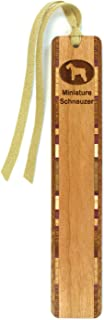 product image for Dog Bookmark - Miniature Schnauzer Engraved Wooden Bookmark with Tassel