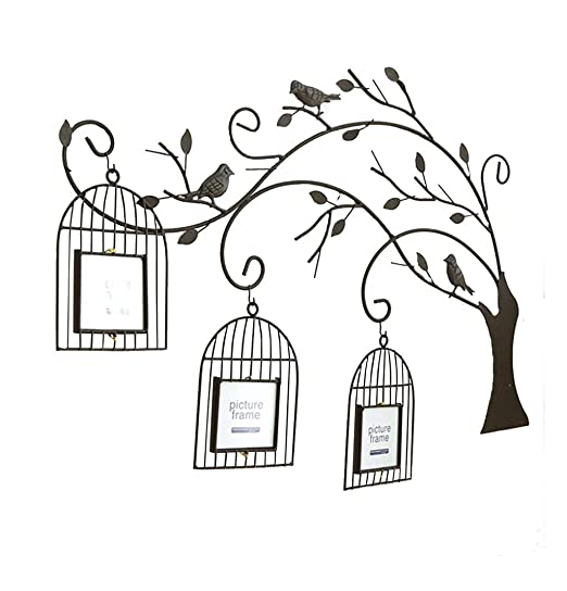 LYXPUZI Jaula de pájaros árbol Foto Pared · Creativa Sala de ...