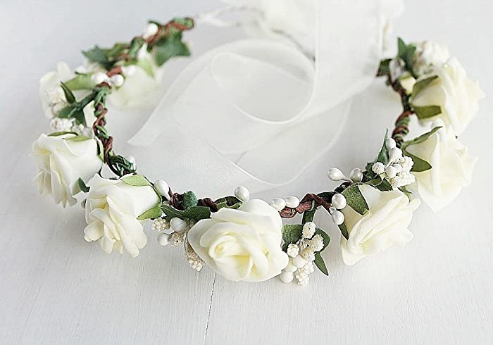 Amazon.com  Cream Rose Crown c329b85d6b0