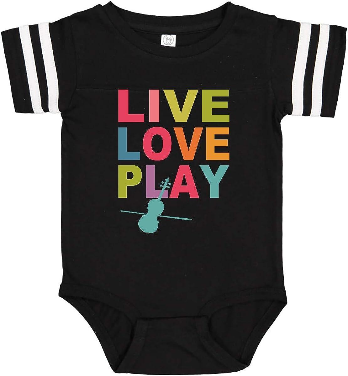 inktastic Live Love Play Violin Infant Creeper