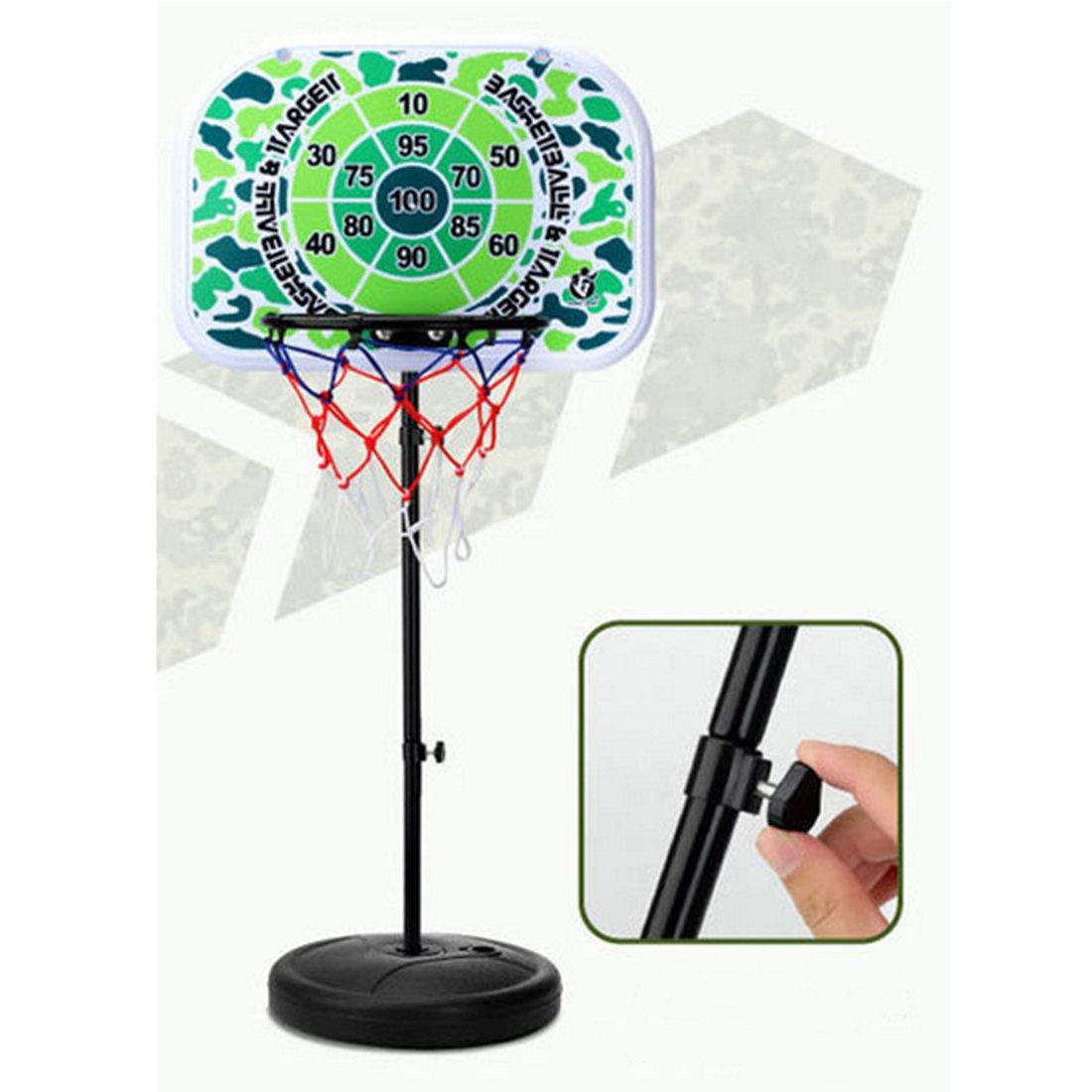 DAN DISCOUNTS 2m Panier de Basket Stable et R/églable en Hauteur avec Ballon Pompe Convient pour Enfants et Adolescents