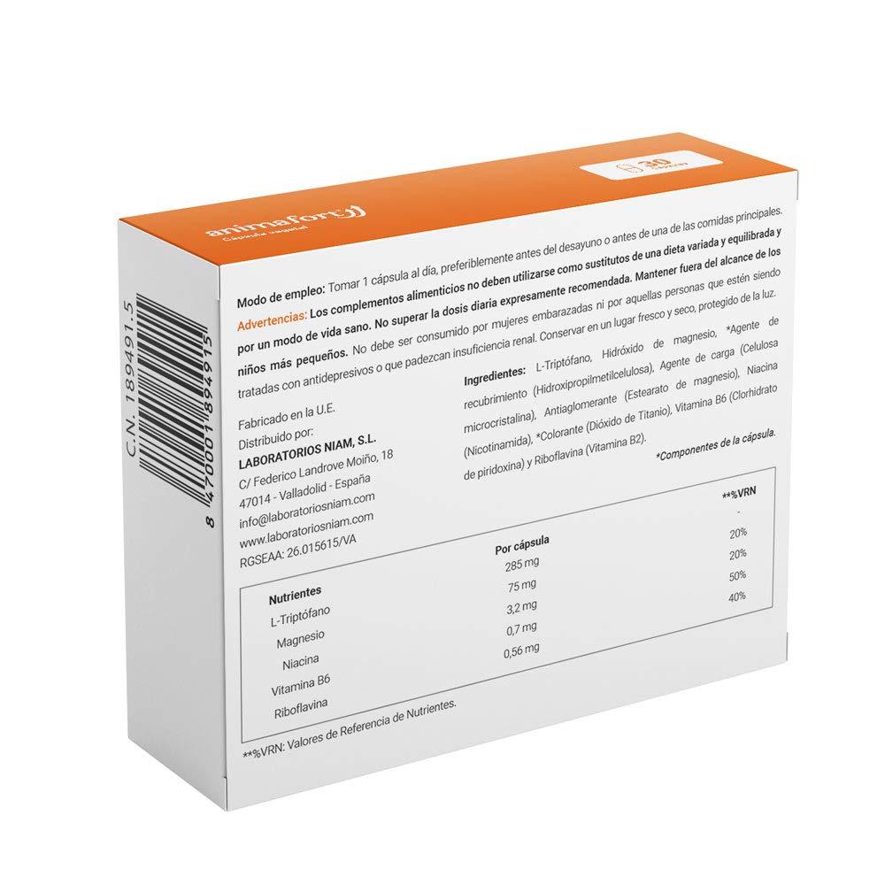Animafort Cápsulas-Triptofano con Magnesio y Vitaminas B: Amazon.es: Salud y cuidado personal