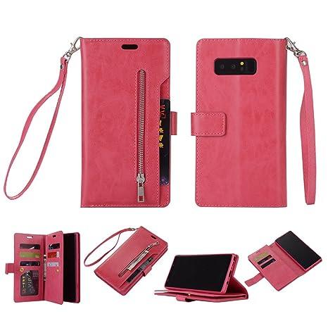 Samsung Galaxy Note 8 tipo cartera teléfono móvil, cierre ...
