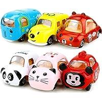 Spielzeugautos Spielautos für Kinder, Spielzeug zur Entwicklung von Kindern 6 Stck Pull Back Autos Hund, Elefant, Bär, Panda, Maus, Katze für Kinder ab 2 Jahre, Geschenke für Adventskalender Kinder