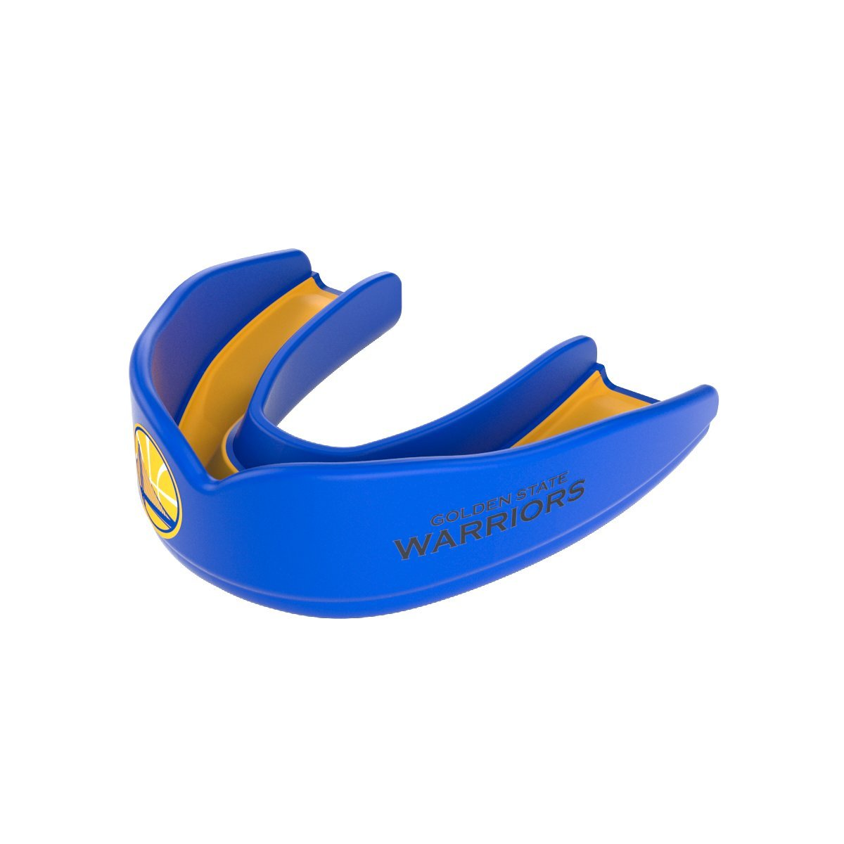Shock Doctor 8304-0311Y NBA Golden State Warriors Basketball Mouth Guard, Blue/Gold, Youth