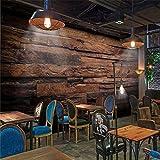 LWCX Modern wallpaper 3d mural retro nostalgia wood panel fresco living room background wallpaper for walls 430X280CM