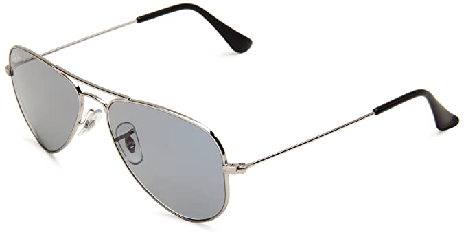 67b613c3c7c002 Ray-Ban AVIATOR SMALL METAL - SILVER Frame CRYSTAL LIGHT BLUE Lenses 52mm  Non-