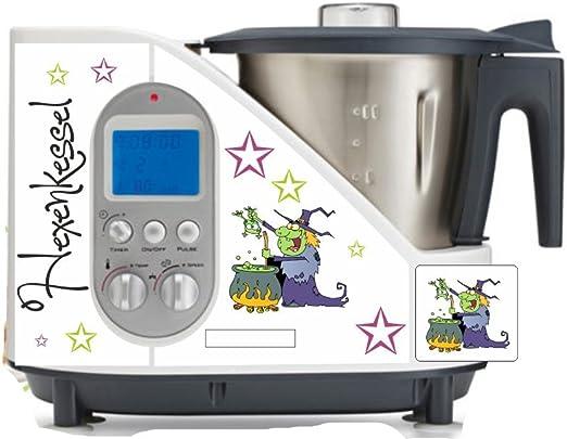 Robot de cocina pegatinas de caldero Bruja verde para SC 100: Amazon.es