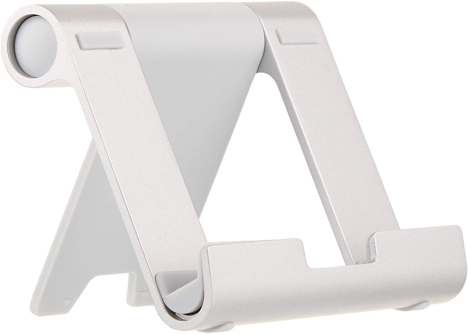 AmazonBasics Multi-Angle Portable Stand for Mobile Phones, Tablets and E-readers, Silver product image
