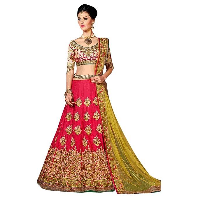 Amazon.com: Hermoso coli de fiesta Bollywood bordado Ghagra ...