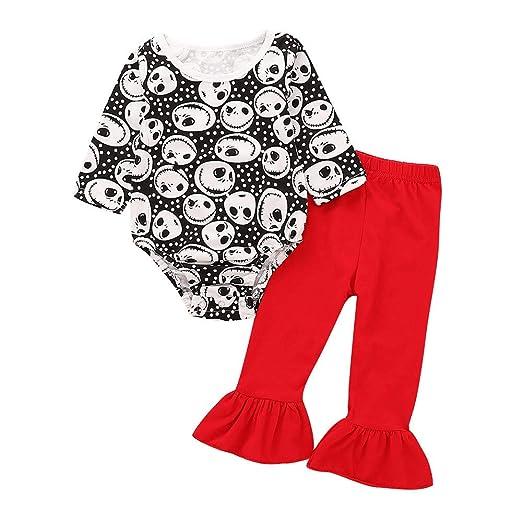 5c20227aec28 Amazon.com  Lurryly❤Halloween Costumes Baby Girls Skull Romper ...