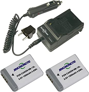 Canon NB-13L Battery Replacement 2X Pack for Canon NB-13L Digital Camera Battery 1250mAh, 3.6V, Lithium-Ion