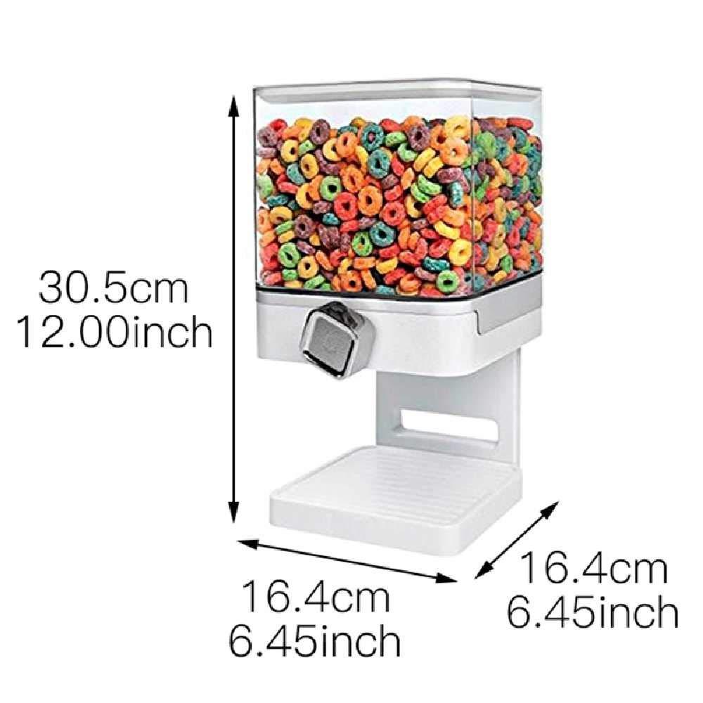 zucchero dispenser di cereali con coperchio ermetico ideale per farina contenitore da cucina in plastica per alimenti secchi riso Casiz cibo per animali domestici contenitore da 2,5 l