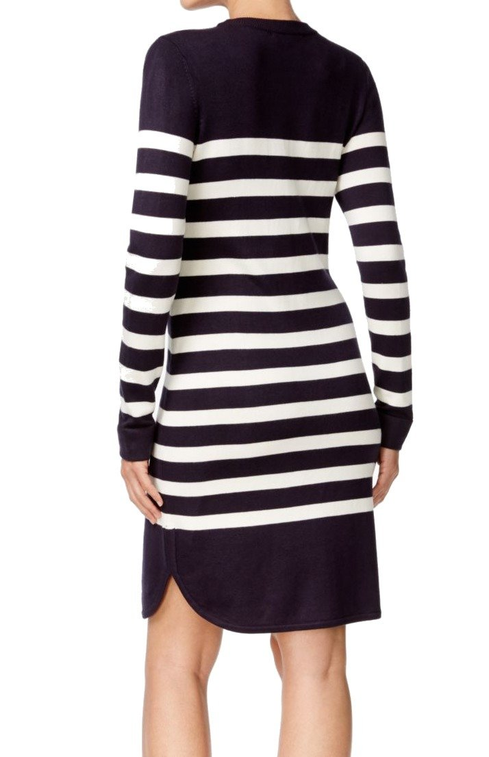 c1fcccee91046 Jessica Howard Womens Knit Striped Sweaterdress Navy S at Amazon Women's  Clothing store: