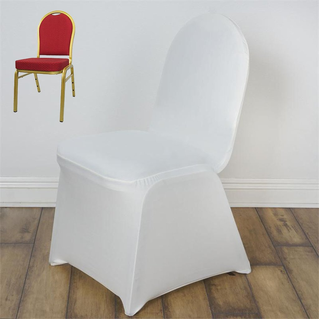 Efavormart Ivory Stretchy Spandex Fitted Banquet Chair Cover Dinning Event Slipcover for Wedding Party Banquet Catering