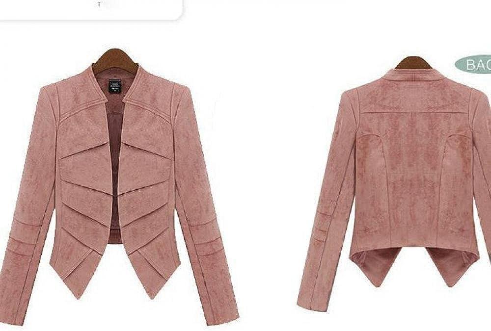 Lingswallow Womens Casual Office OL Open Fit Slim Outwear Blazer Jackets