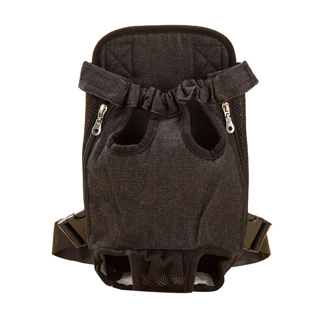 L Maimai Chest Dog Bag Teddy Pet Cat Backpack Out Carrying Bag Pet Travel Denim Bag (Size   L)