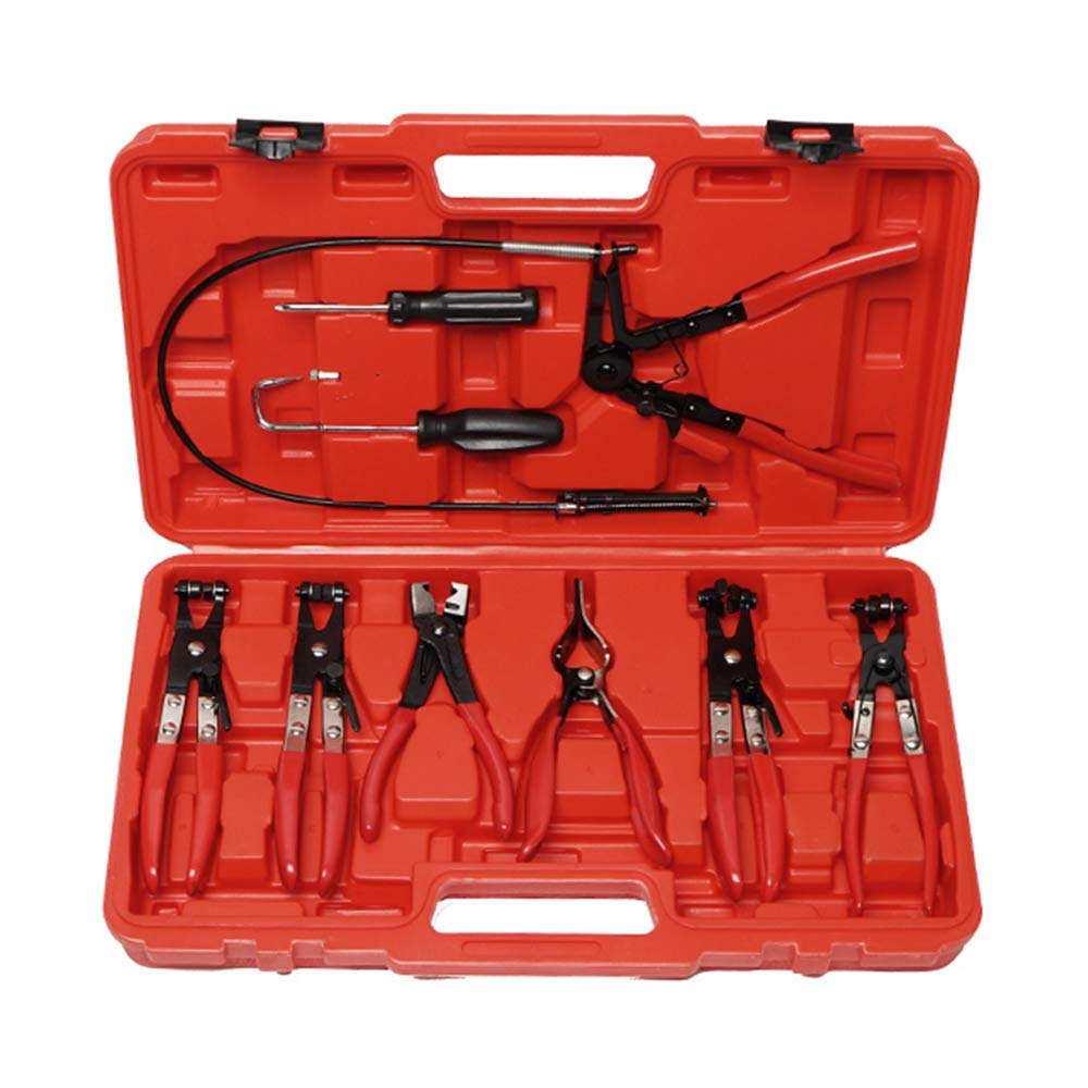 9pcs Hose Clamp Pliers Tool Sets For Wire Long Reach Replace Fuel Oil Water Hose Auto Tools by A ABIGAIL