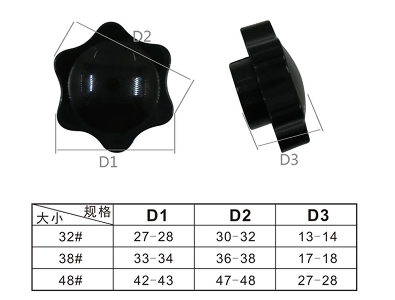 Luchang M4 M5 M6 M8 M10 M12 M4 25 type2 10pcs color negro Tuercas de baquelita para apretar las manos