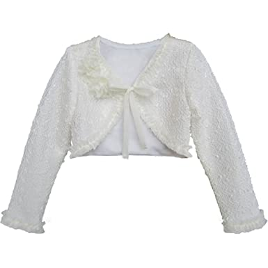 7ca564d1 Amazon.com: Isobella & Chloe Little Girl Ivory Flower Ruffle Long ...