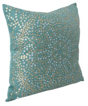Turquoise Anu Foil Dot Pillow | Kirklands